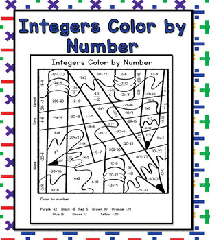Operations with Integers Color by Number