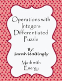 Operations with Integers Differentiated Puzzle