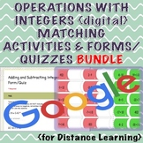 Operations with Integers Distance Learning Bundle