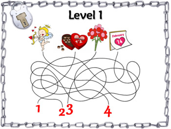 Operations with Integers Game: Escape Room Valentine's Day Math Activity