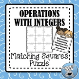 OPERATIONS WITH INTEGERS - MATCHING SQUARES PUZZLE!
