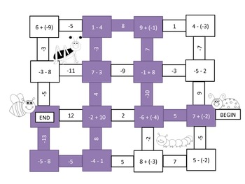 Operations with Integers Mazes