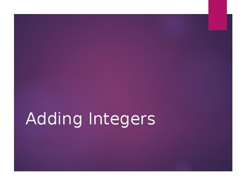 Operations with Integers - Notes and (33) Examples/Practic