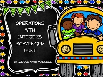 Operations with Integers Scavenger Hunt