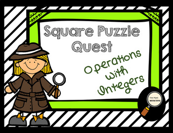 Operations with Integers - Square Puzzle Quest