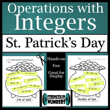 Operations with Integers St. Patrick's Day Activity