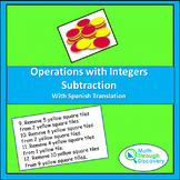 Algebra 1 - Operations with Integers - Subtraction
