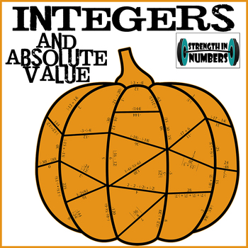 Operations with Integers and Absolute Value Fall Pumpkin Puzzle