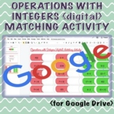 Operations with Integers {digital} Matching Activity (Dist