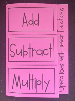 Operations with Linear Functions (Foldable)