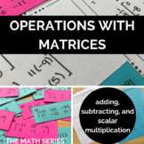 Operations with Matrices Matching Activity!