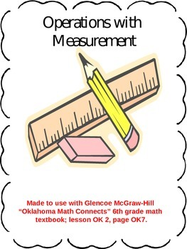 Operations with Measurements