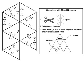 Operations with Mixed Numbers Game: Math Tarsia Puzzle