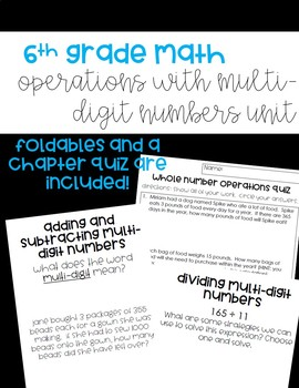Operations with Multi-Digit Numbers **BUNDLED!!**