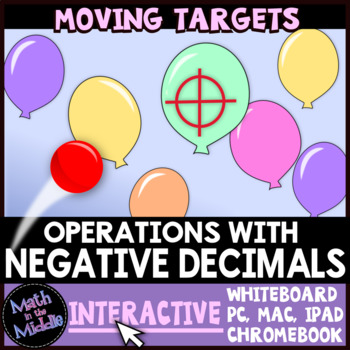 Operations with Negative Decimals Moving Targets Interactive Review Game