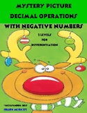 Mystery Picture Decimal Operations with Negative Numbers