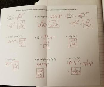 Operations with Negative Exponents (Foldables)