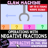 Operations with Negative Fractions Claw Machine Interactiv