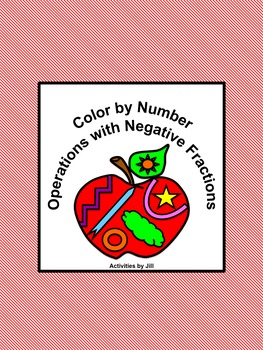 Operations with Negative Fractions Color by Number