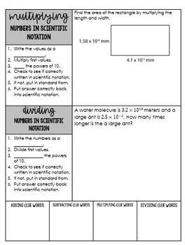 8th Grade Operations within Scientific Notation Notes 8 EE A 4 Go Math