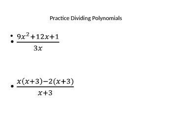 Operations with Polynomials PPT