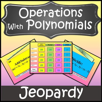 Polynomial Operations Game {Operations with Polynomials Review} {Algebra Games}