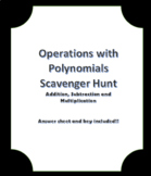 Operations with Polynomials Scavenger Hunt