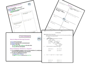 Operations with Polynomials Unit Bundle