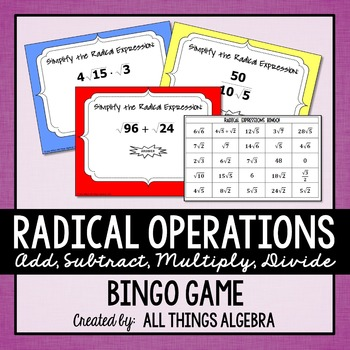 Radical Operations Bingo Game