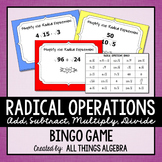Radical Operations Bingo Game