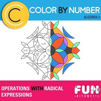 Operations With Radical Expressions Color By Number By Funrithmetic