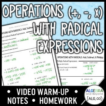 Operations with Radical Expressions Lesson