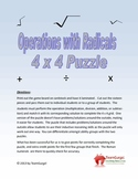Operations with Radicals (Add, Subtract, Multiply,and Divide) Math Puzzles