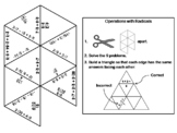 Operations with Radicals Game: Math Tarsia Puzzle