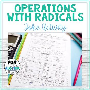 Operations with Radicals Joke Activity {Algebra 2 FREEBIE}