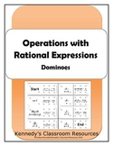 Operations with Rational Expressions - Dominoes