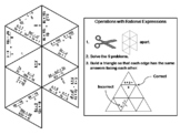 Operations with Rational Expressions Game: Math Tarsia Puzzle
