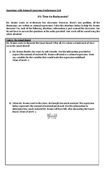 Operations with Rational Expressions Performance Task