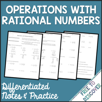 Operations with Rational Numbers Differentiated Notes and Practice