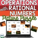 Operations with Rational Numbers Digital Picture Puzzle fo