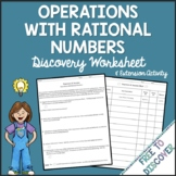 Operations with Rational Numbers Discovery Worksheet