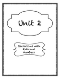 Operations with Rational Numbers Guided Notes
