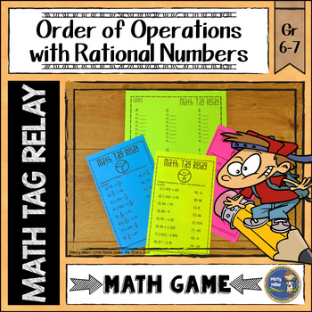 Operations with Rational Numbers Math Tag Relay