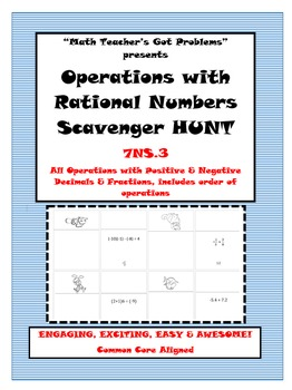 Operations with Rational Numbers Scavenger Hunt 7NS.3