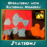 Operations with Rational Numbers: Stations