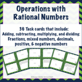 Operations with Rational Numbers Task Cards (Scoot!)
