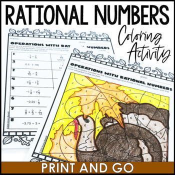 Thanksgiving Math Activity: Operations with Rational Numbers