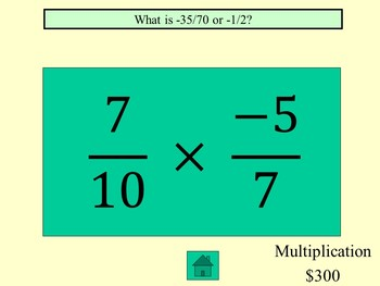 Operations with Rationals Jeopardy (Add, Subtract, Multiply, Divide)
