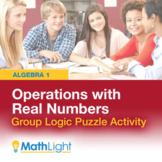 Operations with Real Numbers Logic Puzzle Group Activity