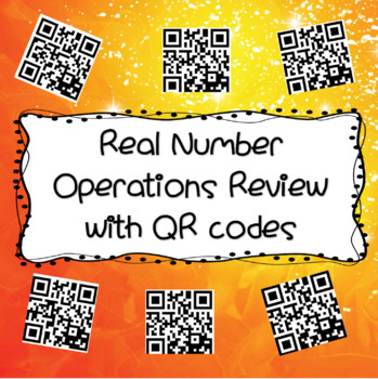Operations with Real Numbers Review